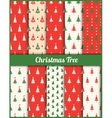 set of patterns with Christmas trees vector image vector image