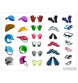 Set of Sport Accessory on White Background vector image vector image