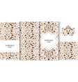 set vertical arabesque floral banners branches vector image vector image