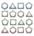 stone squares triangles and other shapes set vector image vector image