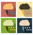 storm icon in trendy flat style isolated on color vector image vector image