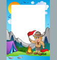 summer frame with scout theme 5 vector image