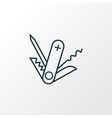 swiss knife icon line symbol premium quality vector image