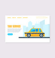 taxi service landing page template online vector image