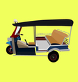 thailand three wheel taxi tuk tuk vector image