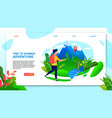time to summer adventure motivate landing page vector image
