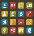 Trendy Flat Icons of Medical Elements vector image vector image