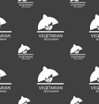 vegetarian restaurant sign Seamless pattern on a vector image vector image