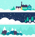 Winter Card Template vector image