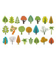 flat silhouettes of trees vector image