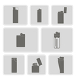 monochrome icon set with lighter vector image