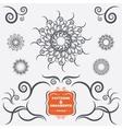 Vintage geometric ornaments Decorative design vector image
