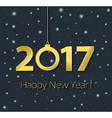 2017 Happy New Year poster vector image vector image