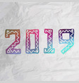 2019 grunge stamp new year sign vector image