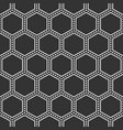 abstract seamless pattern of hexagons vector image vector image