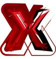 Artistic font letter x vector image vector image