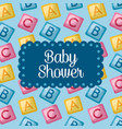 baby shower celebration vector image