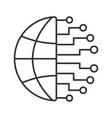 big data linear icon vector image vector image