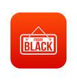 black friday signboard icon digital red vector image vector image