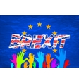 Brexit Text Isolated art colorfull hand vector image vector image