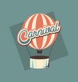 carnival hot air balloon vector image