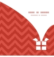colorful ikat chevron Christmas gift box vector image vector image