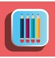 Colorful pencils icon vector image vector image