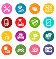 computer repair service icons set colorful circles vector image vector image