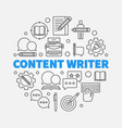 content writer round outline vector image