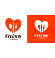 cooking cuisine cookery logo restaurant menu vector image