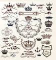 crowns labels flourishes and logotypes vector image vector image