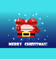 cute christmas gift red santa claus creative vector image