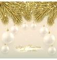 Elegant Christmas with glass balls vector image vector image