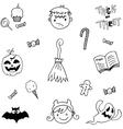 Element halloween in doodle vector image vector image