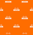 fence parade pattern orange vector image vector image
