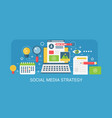 flat modern concept social media strategy vector image