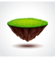 Floating island with green grass vector image vector image