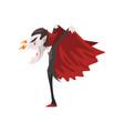 furious count dracula vampire cartoon character vector image
