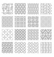 geometric abstract monochrome seamless patterns vector image vector image