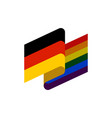 germany and lgbt flag symbol of tolerant vector image vector image
