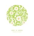 Green and golden garden silhouettes circle decor vector image vector image