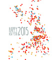 Happy new year 2015 confetti background vector image