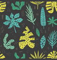 hawaii hand drawn seamless pattern vector image