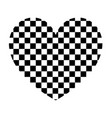 heart with square the black color icon vector image vector image
