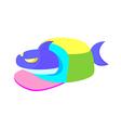 icon shark vector image vector image