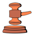 judge gavel icon cartoon vector image