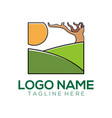 landscape logo and icon design vector image vector image
