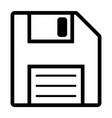 line floppy drive icon vector image