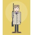 line style showing man in coat vector image vector image