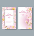lotus vertical banners 2 vector image vector image